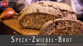 Speck Zwiebel Brot Low Carb ohne Mehl Rezept