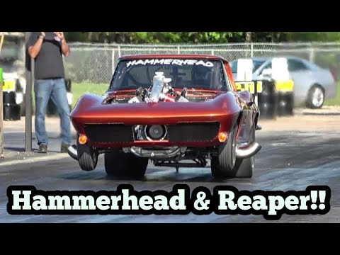 Street Outlaws Reaper & Hammerhead Procharged Corvette Testing!