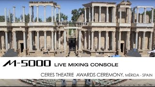 Roland M-5000 at the Ceres Theatre Awards Ceremony - Merida, Spain