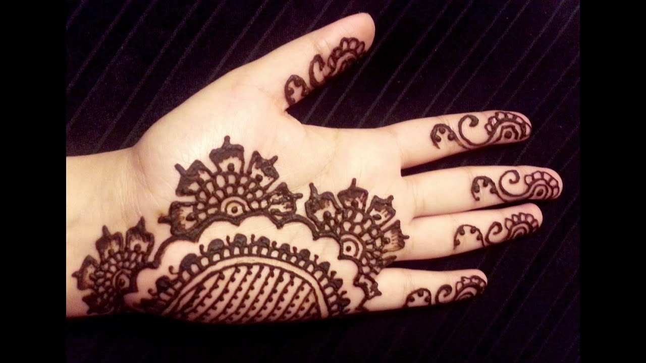 Simple Arabic Flower Mehndi Designs : Simple arabic henna floral elegant mehendi design doovi