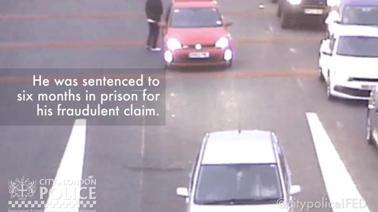 The fraudulent car crash caught on CCTV