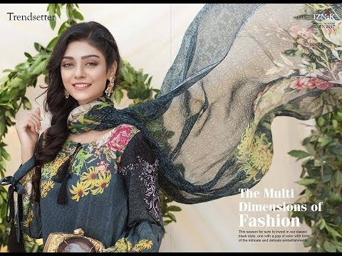 fd7bc03e3f Iznik Embroidered Lawn Collection 2017 with Prices - YouTube