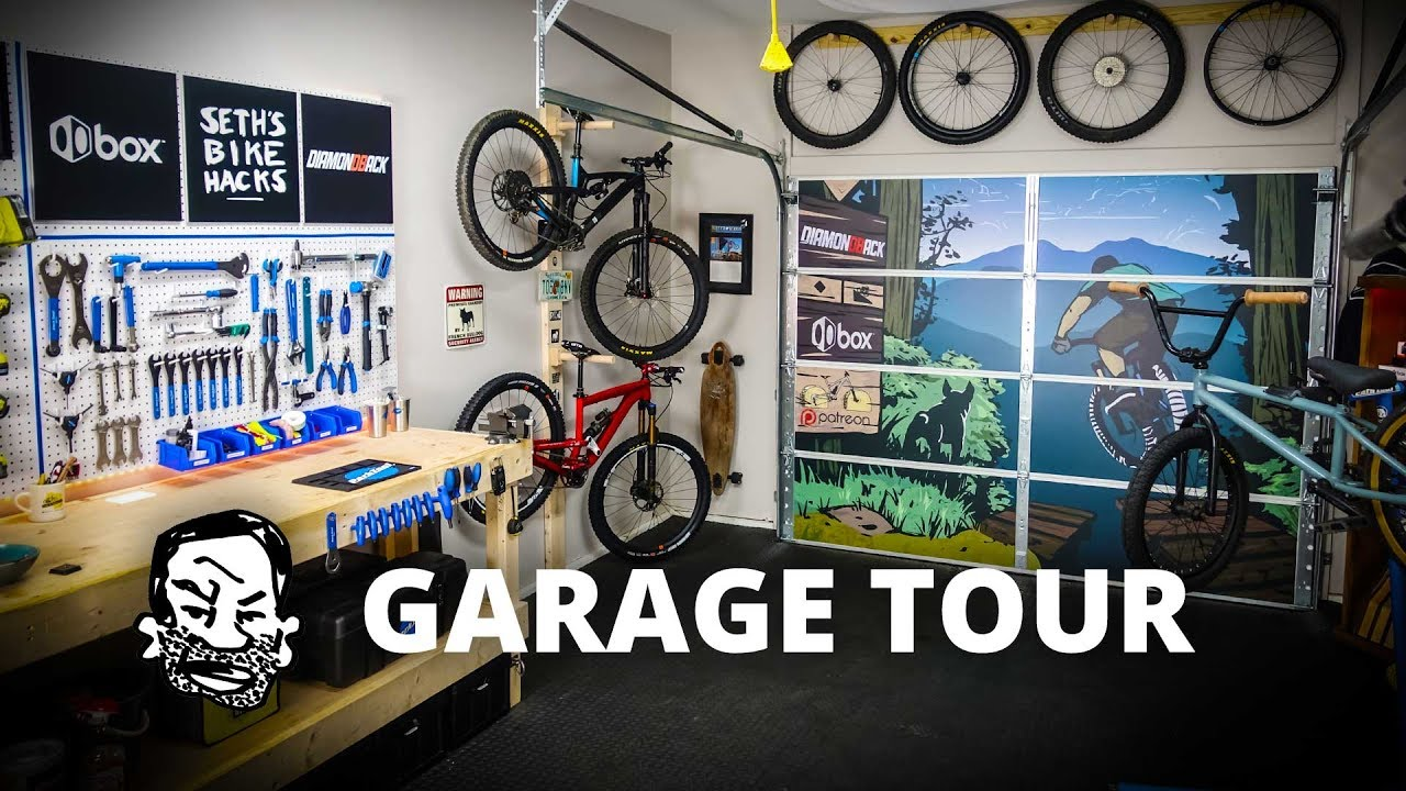 Home Bike Shop Update Garage Door Art Youtube