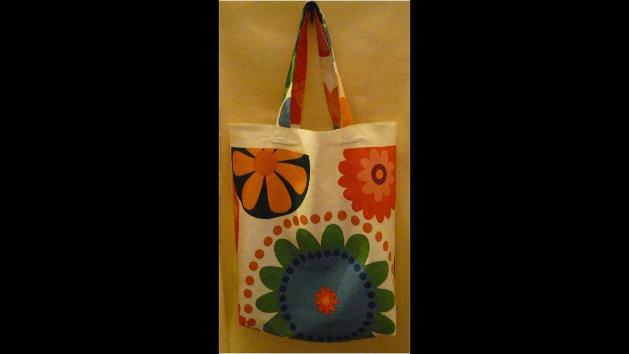 How to make a shopping bag / reusable carrier bag - YouTube