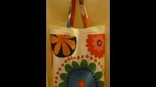 How to make a shopping bag / reusable carrier bag