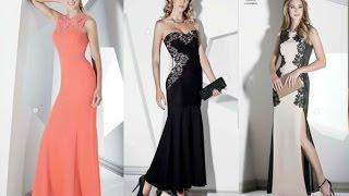 Modelos de vestidos y calzados  de noche andrea 2015