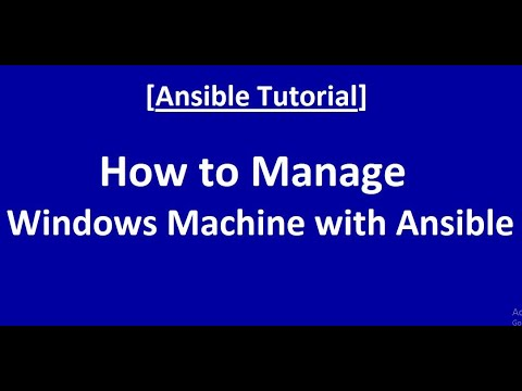 How to Manage Windows Machine with Ansible - YouTube