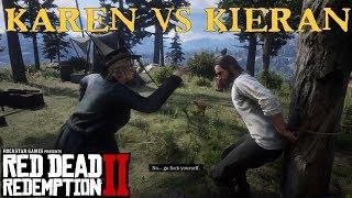 Karen throws a Cigarette in Kieran's Face | Red Dead Redemption 2