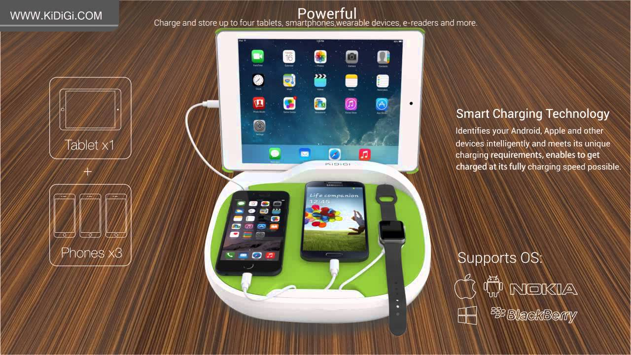 Family Charging Station hank family charging station for smartphones & tablets - youtube