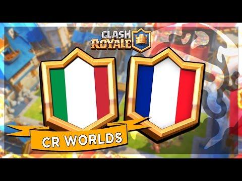 FRANCE VS ITALIE - CR Worlds MATCH AMICAL sur CLASH ROYALE