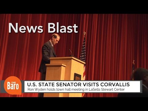 U.S. State Senator Ron Wyden visits Corvallis: The Daily Baro News Blast