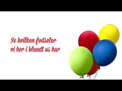 Birthe Kjær & Benny Andersen - Fødselsdagssang