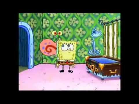 spongebob tries to give gary a bath for 5 minutes  YouTube