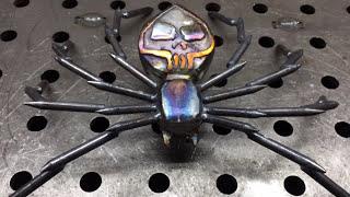 Скачать How It S Made The Black Widow Sculpture Scrap Metal Art