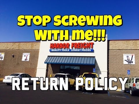 Harbor Freight Return Policy - Lifetime Warranty - No Receipt - Bundys Garage