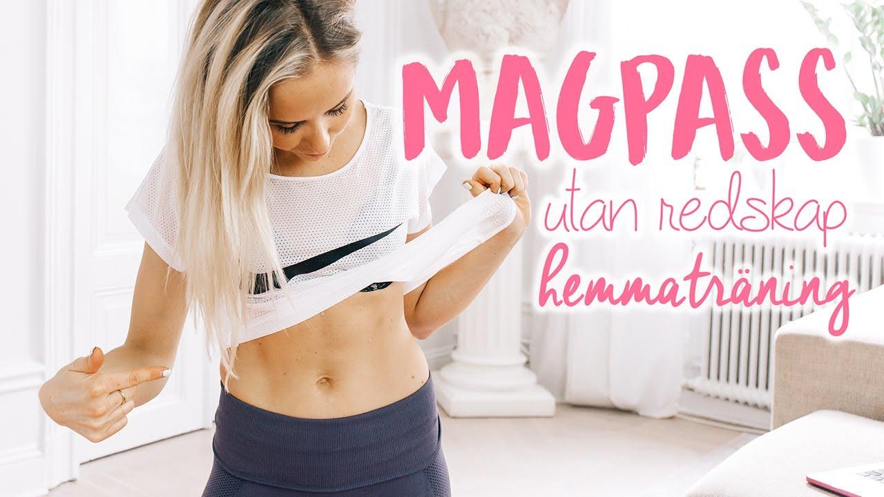 träningsprogram hemma mage