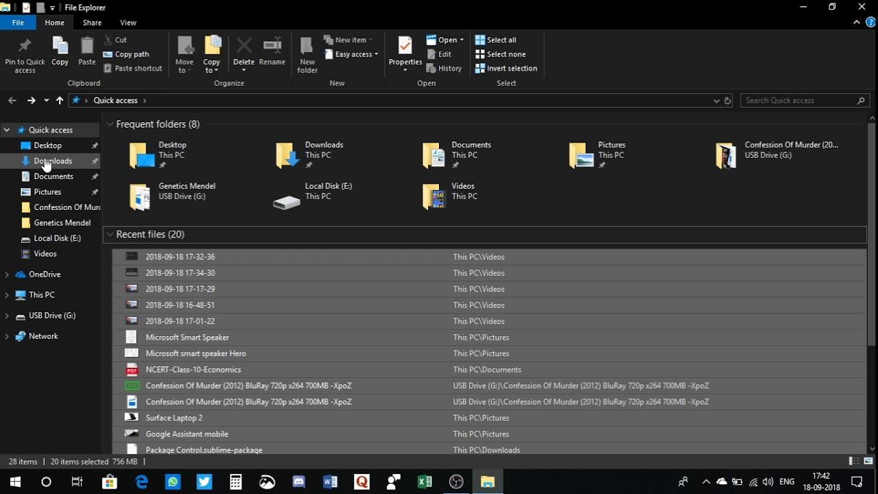 Inconsistency in Windows 10 File Explorer Dark theme