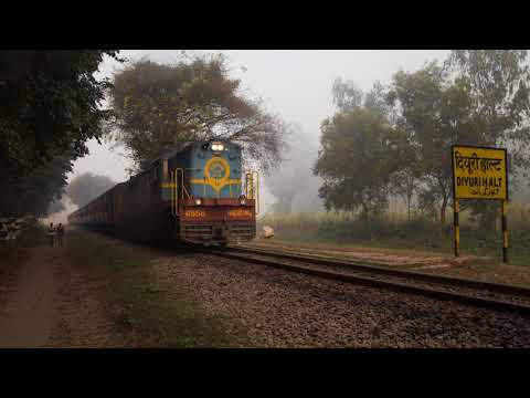 High speed metre gauge through the fog - Last days of the Pilibhit to Mailani line