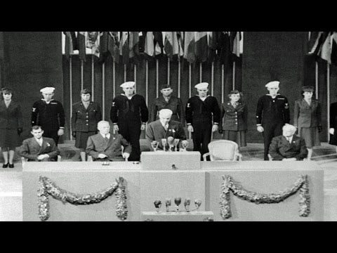 HD Stock Footage United Nations Charter Drafted in San Francisco