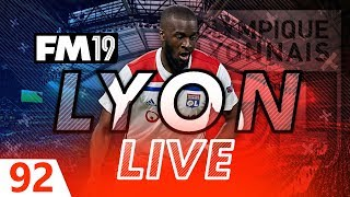 Football Manager 2019 | Lyon Live #92: NO MORE TRANSFERS.... #FM19