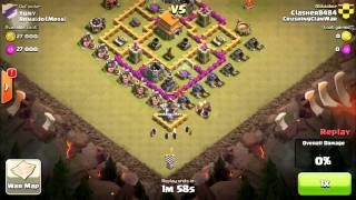 TH6 and TH7 Clan War attack strategy: Giants and Wizards