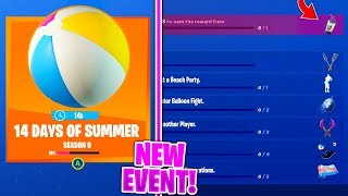 The SUMMER EVENT IS HERE and 14 Days Of Summer CHALLENGES/REWARDS in Fortnite!