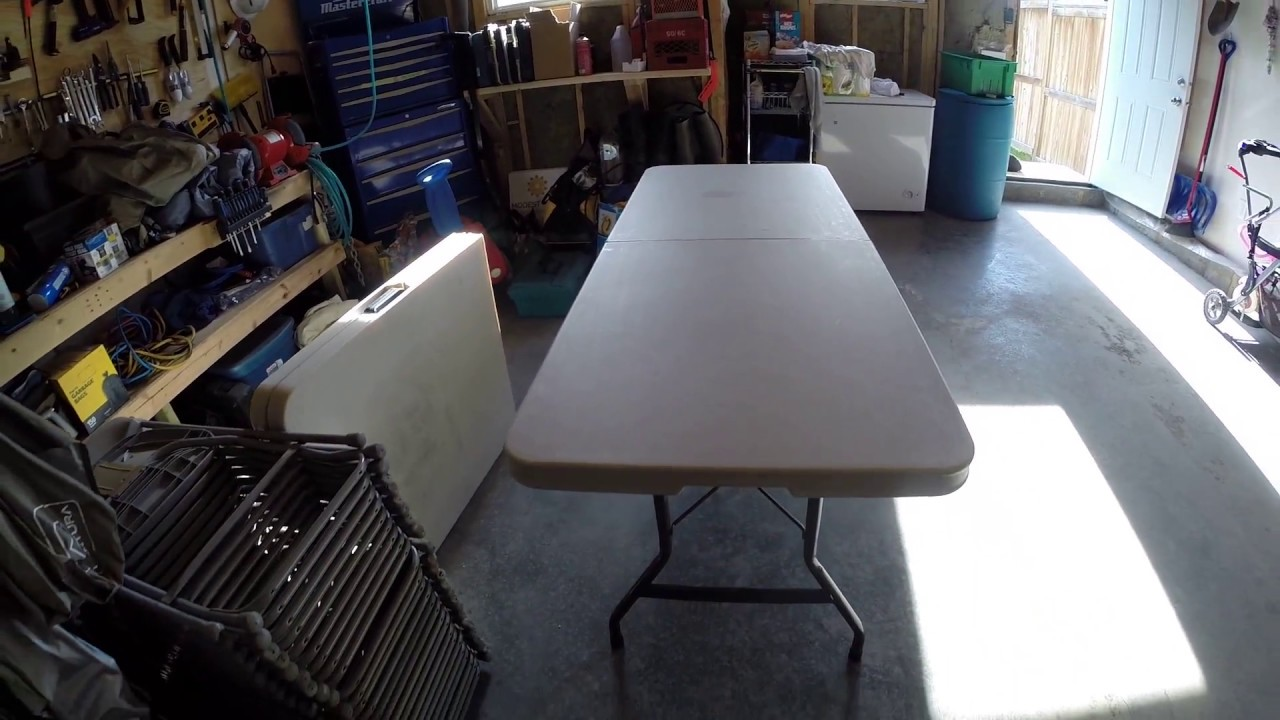 Costco 6 Foot Folding Table Review And Overview Youtube