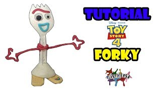 ✓Como hacer a Forky de Toy Story 4 de Plastilina