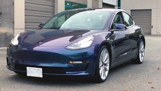 Tesla Performance Model 3  - Color Me Purple
