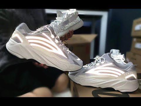 d3d59434d5cbb Adidas Yeezy 350 V2 Static 3M   700 V2 Static Unboxing Shoes Review ...