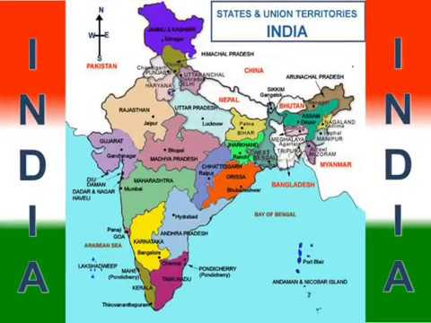 state maps of india India State And Capital Map All States Map Of India Youtube state maps of india