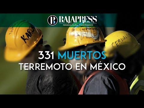 Suben a 331 muertos por terremoto en México