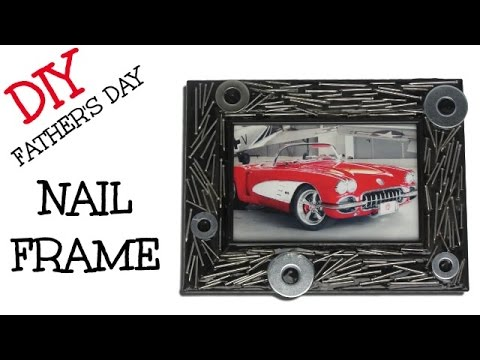 DIY Nail Frame Man Cave Decor - Craft Klatch Father's Day ...