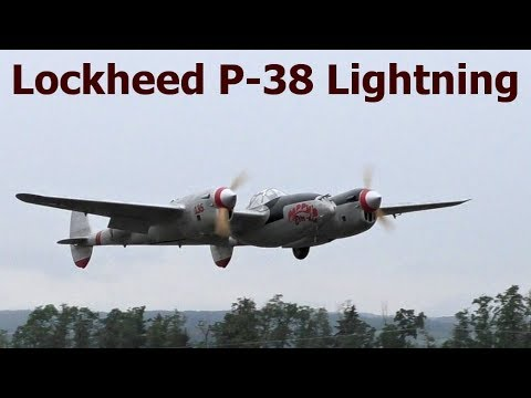 Lockheed P-38 Lightning, giant scale RC aircraft, 2017