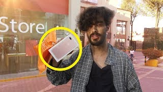 Vagabundo compra el IPHONE MÁS COSTOSO!  Reacciones de vendedores