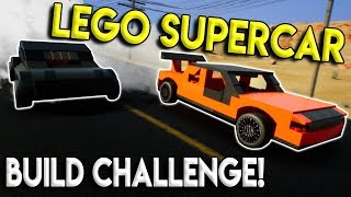 LEGO SUPERCAR BUILD, RACES, & CRASHES! - Brick Rigs Multiplayer Gameplay Challenge - Lego Building