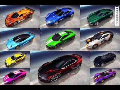 Asphalt 8, top 11 A Class cars MAX PRO Multiplayer
