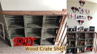 Wooden Crate Shelves DIY