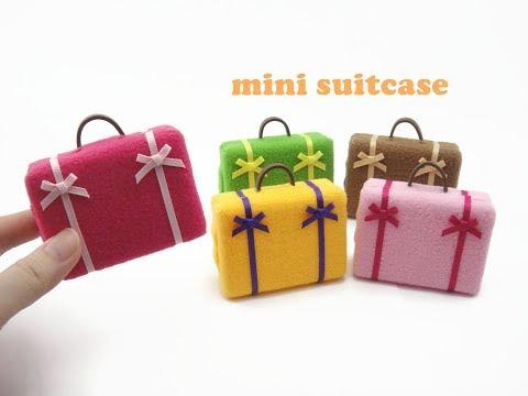 DIY Miniature Doll Mini Simple Suitcase Bag Luggage - Easy!