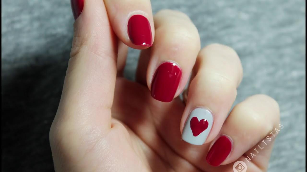 3 Ideas Para Decorar Tus Uñas De San Valentín En Menos De 5 Minutos Fácil