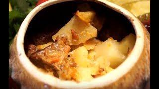 Картошка в горшочке с мясом.