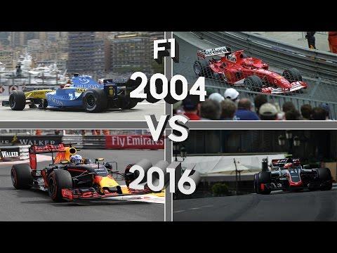 F1 2004 vs F1 2016 Monaco Pole Laps