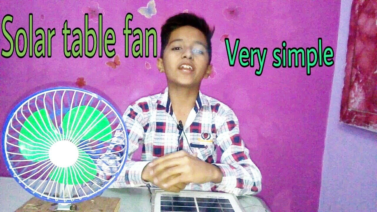 Solar table fan| - YouTube