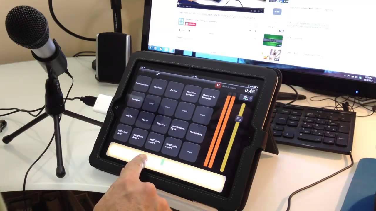 Audio Technica Atr2100 Into Bossjock Studio Podcast App