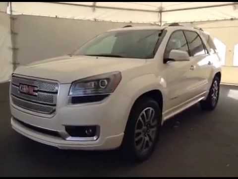 2014 gmc acadia awd denali white diamond tricoat for sale in lethbridge alberta youtube. Black Bedroom Furniture Sets. Home Design Ideas