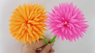 Easy Paper Flowers Making - Crafts Ideas for Home - Room decoration - DIY Handmade