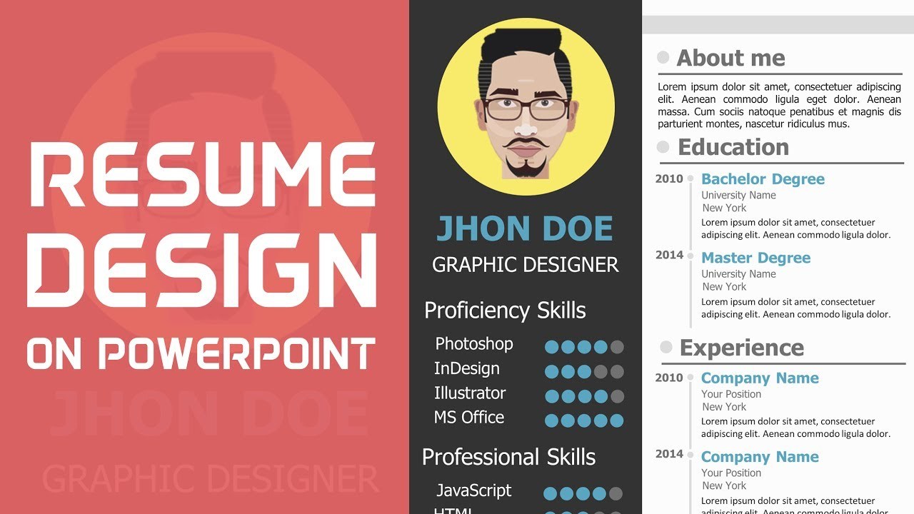 Attractive How To Make A CV On PowerPoint To Powerpoint Resume