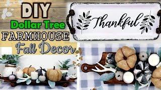 Dollar Tree DIY | Farmhouse Fall Decor | Rustic Fall Ideas 2019