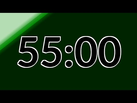 55 Minute Timer No Music with Alarm