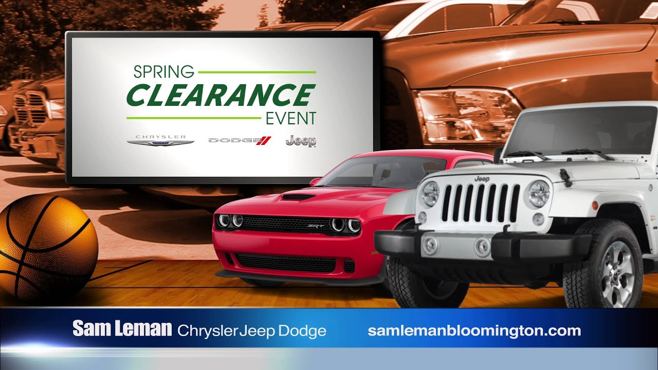 "Sam Leman Chrysler Dodge Jeep Ram Bloomington ""March Markdown"